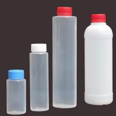 Bottles made of polyethylene, plastics, rubber
