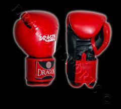 Rękawice bokserskie -czerwone, czarne PU