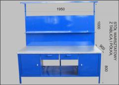 Stół warsztatowy z tablicą i półką