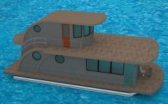 Casa 5M Fly - konfortowy dom na wodzie (houseboat)