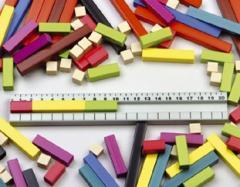 Liczby w kolorach (klocki Cuisenaire'a)