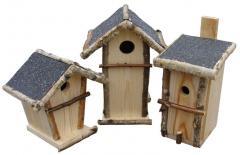 Karmniki drewniane, domki dla ptaków