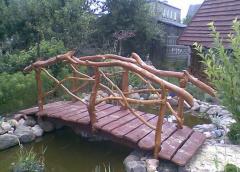 Mostek nad oczko wodne