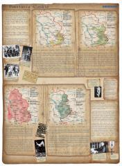 Ścienna mapa szkolna Powstania śląskie