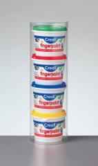 Farby do malowania palcami - 4 pojemniki 125g