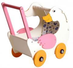 Wózek drewniany z kaczką LGR-8757