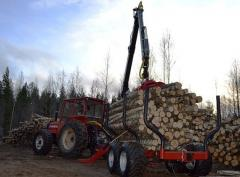 Forest trailers with crane