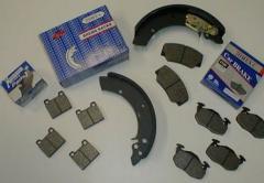 Asbestos-free brake linings