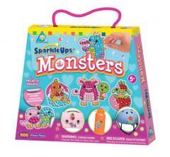 Błyszczące naklejki Monsters - Potwory