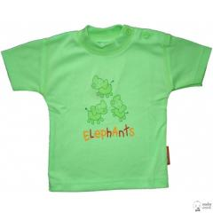 Podkoszulka krótki rękaw Jaś roz.62 Bawełna kolor zielony