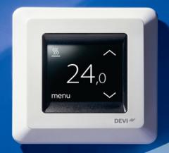 Thermostats for heating cable systems