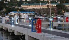 Electrical lighting equipment for docks, harbours