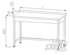 Stół roboczy nierdzewny (szer. 60 cm) E-1030 ECO