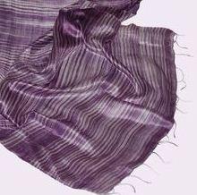 Szalik damski tkany ręcznie z jedwabnej nici