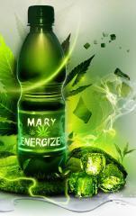 Napój energetyczny z wyciągiem z konopi