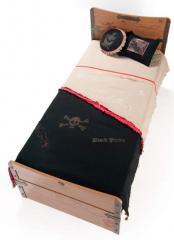 Narzuta z poduszkami AKS-4480 Black Pirate Hook