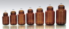 Butelki (Słoiczki) do kapsułek i tabletek - szkło oranżowe