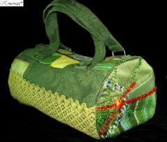 Zdobiona torebka - Greens