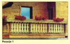 Balkony z drewna świerkowego
