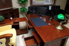 Reprezentacyjne Biurko Gabinetowe Zestaw Biurowy