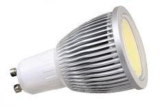 Żarówka diodowa GU10 COB 5W 230V biała ciepła