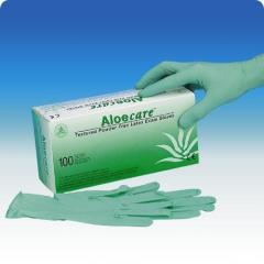 Rękawice lateksowe bezpudrowe Aloe Care