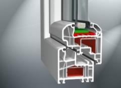 System o szerokości 70 mm, z uszczelnieniem środkowym, pięciokomorowy.