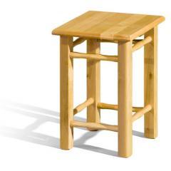 Taboret kuchenny drewniany nogi proste