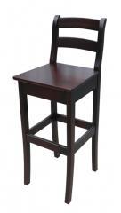 Hoker H14 barowy stołek drewniany, hokery do kuchni, lokalu, baru z oparciem