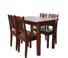 Zestaw MAX3 drewniany stół kuchenny 110x70cm do kuchni , jadalni z czterema krzesłami z drewna