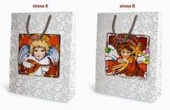 """Papierowa torba na upominki """"Malowane..."""