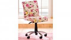 Krzesło obrotowe Flora w różowe kwiaty