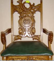 Custom-built carved furniture