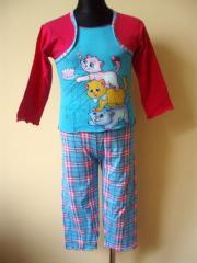 Piżamka dziecięca długi rękaw długie spodnie