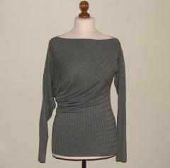 Sweter szary asymetryczny