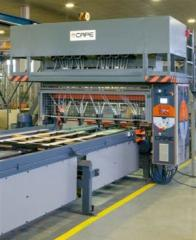 Machine for the production of pallets