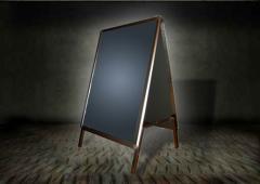 Potykacz reklamowy OWZ dwustronny - format A2 (420 mm x 594 mm)
