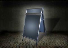 Potykacz reklamowy OWZ dwustronny z nadstawką - format B1 ( 700 mm x 1000 mm + nadstawka 150 mm x 700 mm)