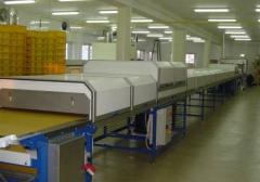 Cooling tunnels for the confectionery and oil-seed