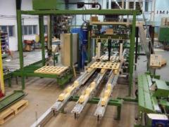 Equipment for the production of pallets