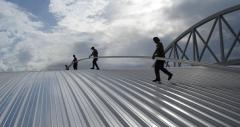 Roofing sheets made of metal