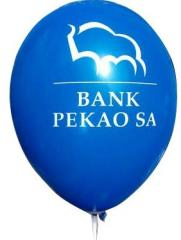 Balloons with the customer logo