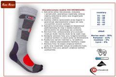 Ski and snowboard thermal socks