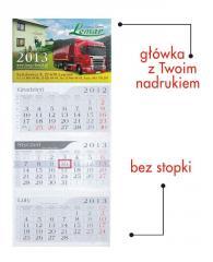 Kalendarz trójdzielny bez stopki
