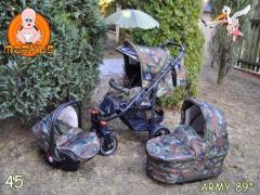 Wózek dziecięcy wielofunkcyjny Army 89*