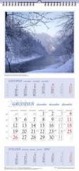 Kalendarze wieloplanszowe trójdzielne