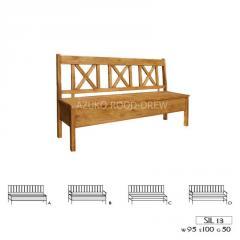 Ławka drewniana rustykalna woskowana  Sil 13