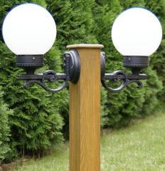 LAMPA DREWNIANA 80cm Z KLOSZEM NR 3