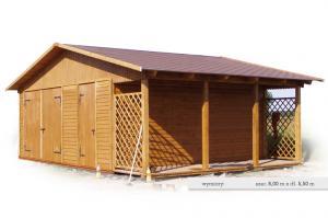 Drewniany domek ogrodowy na narzędzia D6