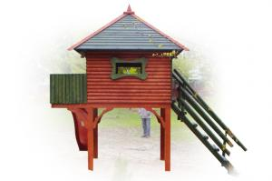 Slide-house for children